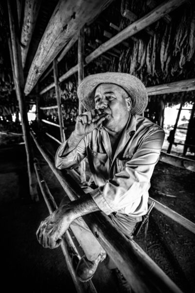 Leonardo in his tobacco drying shed taken on the 16-35mm lens